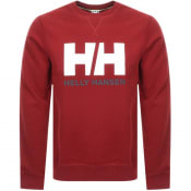 Product Image for Helly Hansen Logo Crew Neck Sweatshirt Red